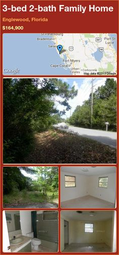 3-bed 2-bath Family Home in Englewood, Florida ►$164,900 #PropertyForSale #RealEstate #Florida http://florida-magic.com/properties/23287-family-home-for-sale-in-englewood-florida-with-3-bedroom-2-bathroom