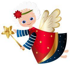 Cute Christmas Angel Transparent PNG Clip Art Image