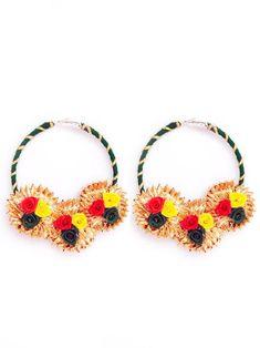 Tassel Jewelry, Fabric Jewelry, Etsy Jewelry, Handmade Jewelry, Flower Jewelry, Diy Wedding Earrings, Diy Earrings, Bridal Jewellery Online, Bridal Jewelry Sets