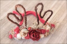 Couture Christmas Woodland Inspired Mini Reindeer Antlers