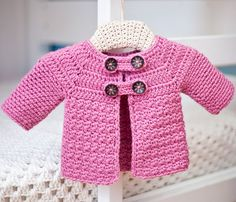 Buttoned crochet Jacket by mon petit violon, via Flickr
