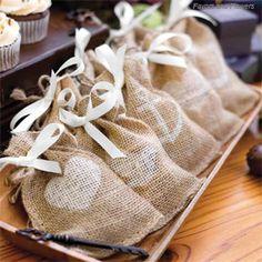 Burlap Favor Bags - set of 25