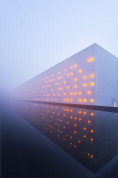 Ludon Vinery by Agence Baggio-Piechaud. light art installation