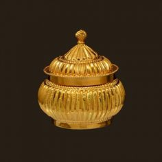 Gold Kumkum Box (VBJ-OW-GA-25) | Vummidi Bangaru Jewellers