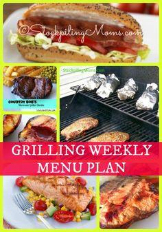 Grilling Weekly Menu Plan
