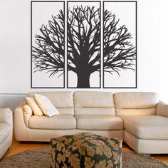 Obraz na stěnu z dřevěné překližky větve stromu v rámu / 3 kusy rámu / KANANA Diy And Crafts, Tattoos, Vintage, Home Decor, Tatuajes, Decoration Home, Room Decor, Tattoo, Vintage Comics