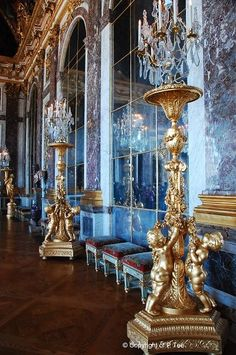Elaborate candle holders, Versailles, France
