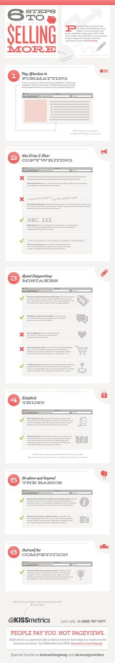 Infographic: 6 Steps to Selling More / Infografía: 6 pasos para vender más a través de una web de eCommerce