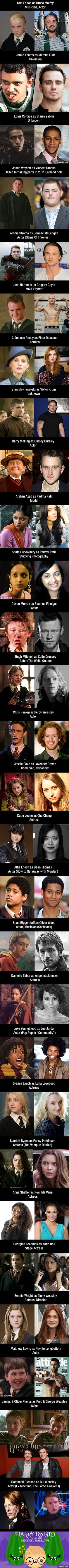 """""""Harry Potter"""" Schoolmates: Then and Now"""