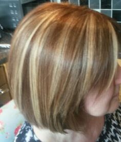 Learn how to do peekaboo highlights yourself for a rock star look caramel bob with blonde and red peekaboo highlights solutioingenieria Images