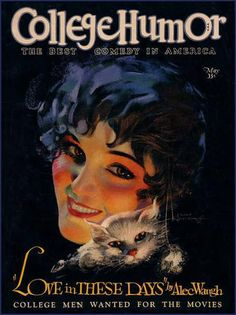 College Humor Magazine, May 1927 ~ Cover by Rolf Armstrong Vintage Advertisements, Vintage Ads, Vintage Prints, Vintage Posters, Vintage Photos, Old Magazines, Vintage Magazines, Magazin Covers, Rolf Armstrong