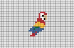 Easy Pixel Art, Pixel Art Grid, Graph Paper Drawings, Graph Paper Art, Mini Cross Stitch, Cross Stitch Animals, Cross Stitch Designs, Cross Stitch Patterns, Cross Stitch Borders