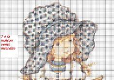 grille gratuite de Sarah kay - Le blog de 7 à la maison, point de croix, tricot, grilles gratuites...