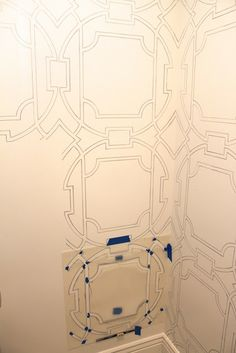Amy's Casablanca: traced stencil outline using paint markers