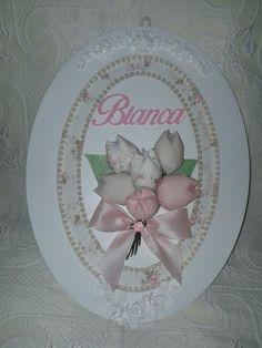 Placa Maternidade Floral  para a princesa Bianca.  Ateliê Mimos da Tata.
