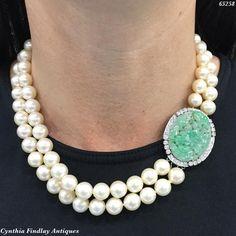 """My Favourite Thing in my Wardrobe is my Jewelry ""- Kate Reardon #jade #pearls #platinum"