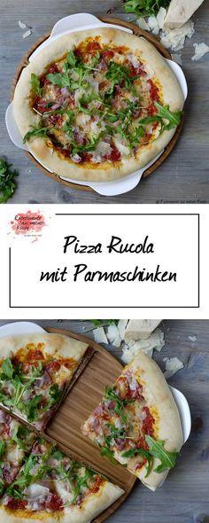 Pizza Rucola mit Parmaschinken und Parmesan   Essen   Rezept