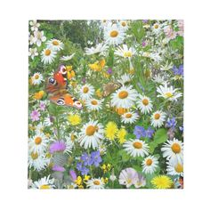 """Wild Flower Meadow Notepad Size: 5.5"""" x 6"""" ' ' - 40 pages. Color: white. Gender: unisex. Age Group: adult. Spring Images, Spring Pictures, Flower Pictures, Spring Wildflowers, Spring Flowers, Wild Flower Meadow, Wild Flowers, Meadow Flowers, Jungle Flowers"""
