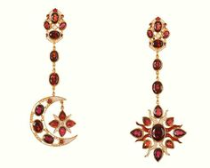 Diego Percossi Papi Sol & Luna Collection~~~Garnet Earrings