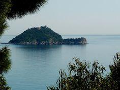 Gallinara island, in front of Alassio and Albenga
