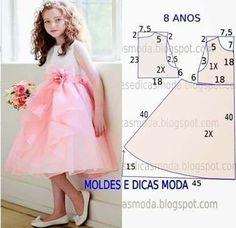 Patrones gratis de vetidos elegantes para niñas05                                                                                                                                                                                 Más
