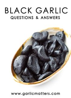 I have been using a lot of black garlic in my kitchen, which I am super impressed with, and I've been inundated with questions about it! So what is black garlic and how does it become garlic-breath… Sauerkraut, Kombucha, What Is Black Garlic, Garlic Recipes, Healthy Recipes, Healthy Drinks, Healthy Eats, Healthy Snacks, Garlic Breath