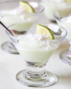 Key Lime Yogurt Shots