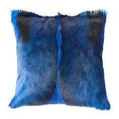 Peacock blue Springbok cushion  poor springbok...