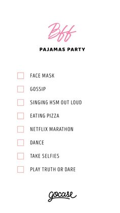 sleepover activities Looking or ideas for the best pajama party with your BBFs Birthday Sleepover Ideas, Sleepover Party Games, Teen Sleepover, Sleepover Activities, Sleepover Ideas For Teens, Bff, Besties, Best Friend Dates, Best Friends