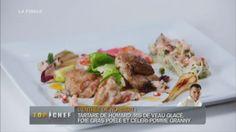 Rémoulade de homard, ris de veau et foie gras poêlé