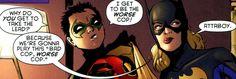 Robin, Batgirl (Damian Wayne, Stephanie Brown)