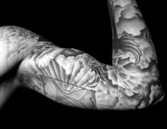 Image result for clouds sleeve tattoo