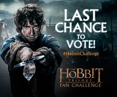You have until tonight to choose your favorite video recreations in The Hobbit Trilogy Fan Challenge. Cast your vote!