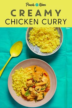 Creamy Chicken Curry - Pinch Of Nom Low Fat Chicken Curry, Chicken Curry Slimming World, Creamy Chicken Curry, Clean Eating Recipes, Healthy Eating, Cooking Recipes, Slimming World Recipes Syn Free, Slimming World Chicken Recipes, Low Calorie Recipes