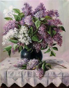 pintura - ainda, vida, comprar uma pintura Lilac