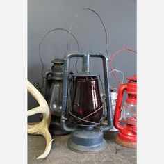 Railroad Lantern Blue, $48, now featured on Fab.