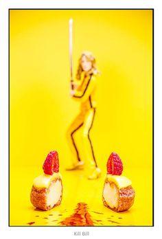 Hollyfood un proyecto fotográfico que recrea películas usando deliciosos postres.   #fotografia #creatividad #reposteria #cine