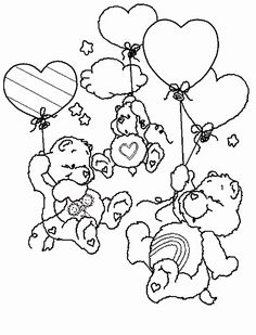 coloring pages fun care bear coloring pages