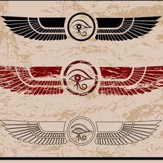 "Résultat de recherche d'images pour ""yeux d'horus"" Future Tattoos, Tattoos For Guys, Goddess Isis Tattoo, Shiva Tattoo Design, Anubis Tattoo, Egypt Tattoo, Upper Back Tattoos, Geometric Lion, Egyptian Art"