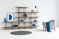 GROP SINGLE regał modułowy w stylu bauhaus polski design Mebloscenka Bauhaus, Shelving, Loft, Table, Furniture, Design, Home Decor, Shelves, Decoration Home