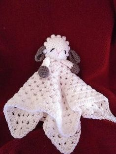 Crochet PATTERN, Little Baby Lamb Cuddle Blanket, Lovey Blankie, Snuggle Blanket, pattern # Baby Blanket. See a companion Lamb in this listing: (change easily to make the face in the blanket pattern) Crochet Security Blanket, Crochet Lovey, Crochet Baby Blanket Beginner, Baby Security Blanket, Crochet Toys, Free Crochet, Baby Snuggle Blanket, Lovey Blanket, Baby Blankets