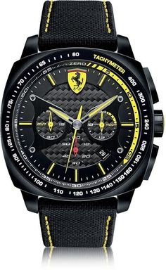4de4c5f888 Aero Evo Chronograph Black and Yellow Stainless Steel Case and Nylon Strap  Men's Watch. Men DesignLuxury Watches ...
