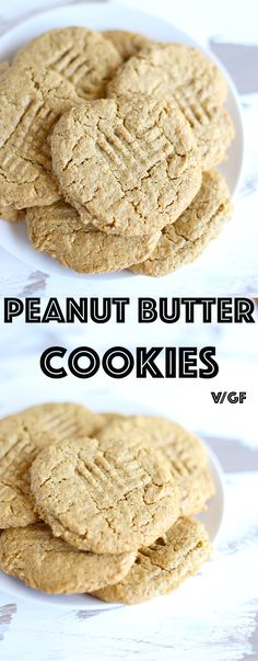 Easy Vegan Cookie Recipes VIDEO! Peanut Butter Cookie! a classic favorite made vegan, gluten free and healthy! | TwoRaspberries.com