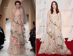 Keira Knightley in Valentino at the 2015 OSCARs