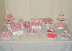 Más opciones de mesas dulces en color rosa