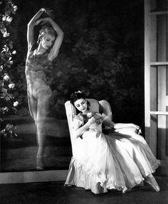 Margot Fonteyn and Alexis Rassine in Le Spectre de la Rose, 1944.