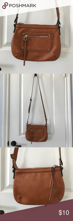 BP Brown Crossbody Bag Super cute small bag with little scallop detailing, from Nordstrom's BP, barely used, great condition bp Bags Crossbody Bags