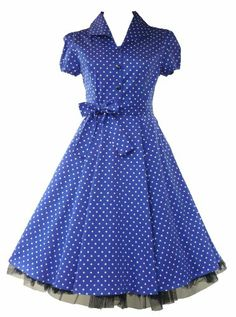 50's Tea Party Small Polka Dot Dress Blue - S = 6 (US), 10 (UK) Tiger Milly,http://www.amazon.com/dp/B00A1LNTCO/ref=cm_sw_r_pi_dp_IUh8sb0RC164A38R