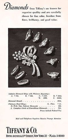 Advertisement (1952) | Tiffany & Co.
