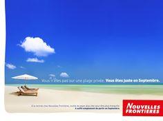 Vous n'êtes pas sur une plage privée. Vous êtes juste en Septembre.